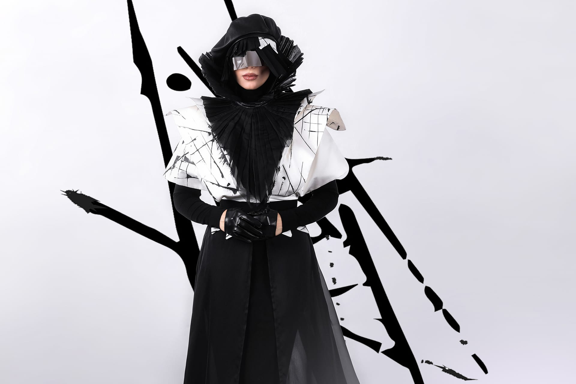 dominique-creation-styliste-creatrice-haute-couture-robe-noir-blanc